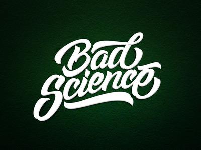 Bad Sciense inspiration brushtype font handlettering brush logo type calligraphy lettering logodesign