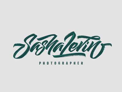 Sasha Levin inspiration brushtype font handlettering brush logo type calligraphy lettering logodesign