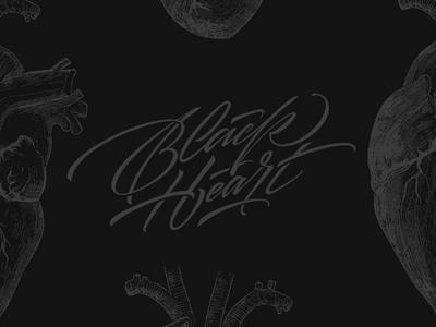 Black Heart inspiration brushtype font handlettering brush logo type calligraphy lettering logodesign