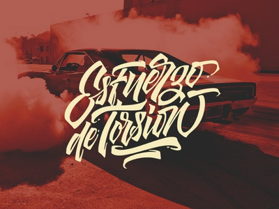 Esfuerzo de Torsion typography inspiration brushtype font handlettering brush logo type calligraphy lettering logodesign