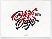 Dark Days brush brushtype calligraphy font handlettering inspiration lettering logo logodesign type typography