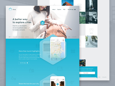 For travellers, not tourists  mobile travel tourism parallax landing page app ios