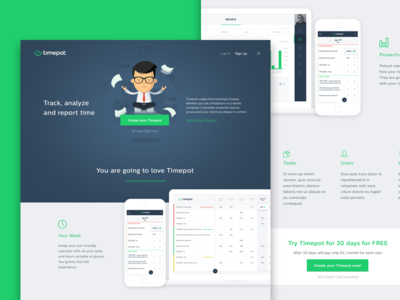 🕗  Timepot - landing page