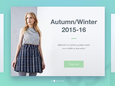 Day 91 - Fashion Slide challenge design ux ui user interface dailyui 100 day challenge header designer slider fashion