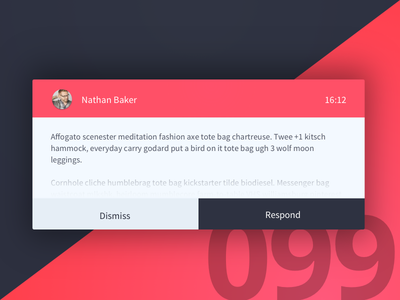 Day 99 - Message Notification modal popup email notification 100 day challenge dailyui user interface ui ux design challenge