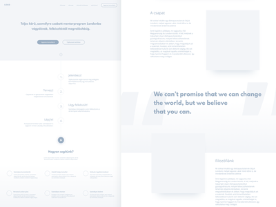 Landing Page Wireframe wip sketch diffuse shadow landing page wireframe