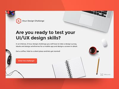 6 Hour Design Challenge Landing Page challenge desk agency ux ui website minimal landing page