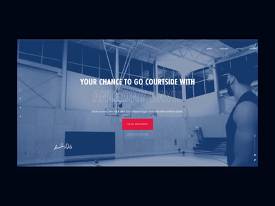 Red Bull | Anthony Davis - Intro animation intro loader campaigns campaign html css html 5 css 3 html design code web ui motion javascript css website animation