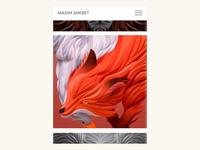 Max Shkret Website - Mobile menu