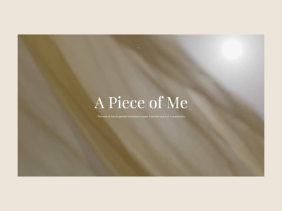 UNFPA | A Piece of Me - Website intro animation css animations css animation intro campaigns campaign html css html 5 css 3 html code web ui motion website javascript css animation