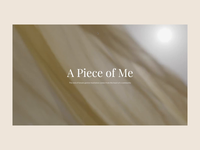 UNFPA   A Piece of Me - Website intro animation