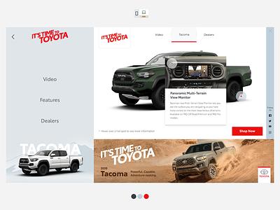 Toyota Tacoma 2020 Ads interactive iab digital desktop ad ads tablet mobile hotspot banner advert