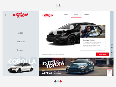 Toyota Corolla 2020 Ads iab interactive hotspot desktop mobile tablet digital banner advert ad