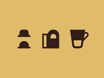 Nespresso icons cup sleeve vertuo nespresso machine icon coffee