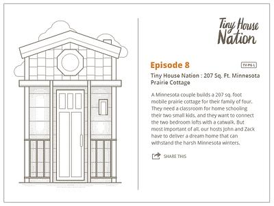 Fyi.tv Tiny House Nation illustration house fyi illustration 8bit lines card