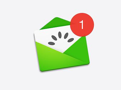 Kiwi mail notification post email green kiwi mail osx icon