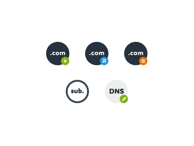 cPanel Domains icons com www subdomain dns alias redirect domain hoster hosting cp cpanel