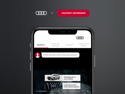 Audi chatbot experience chatbot app ui ios