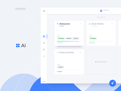 Ai Dashboard design trending material design sidebar control panel cards icons ui dashboard aim artificial intelligence