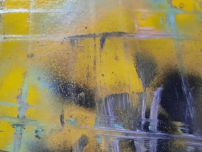 Yellow road art