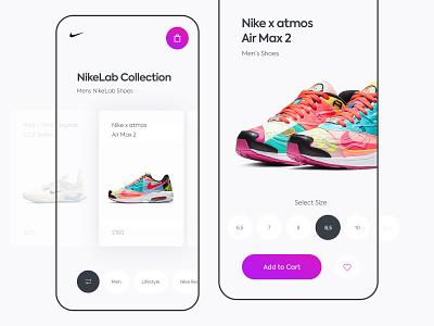 Sneakers mobile app store app nikelab airmax mobile app e-commerce nike sneakers sport