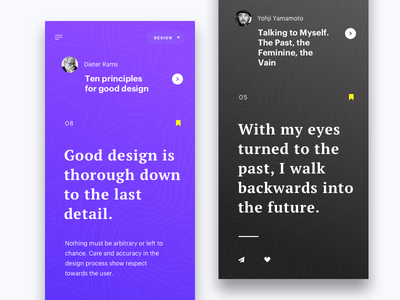 mQuotes flat motivation typography mobile ios