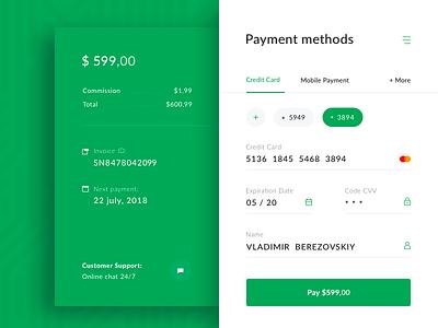 Payment Widget e-commerce pay form banking payment finance widget
