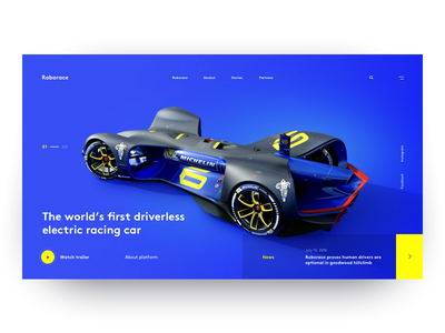 Roborace ui web sport motorsport layout roborace