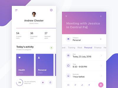 One more Productivity App, part 2 profile to do list schedule productivity mobile management list dashboard app