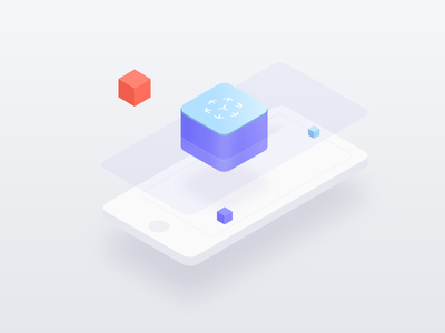 ARKit iphone vector clean isometric augmented reality icon web ar