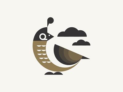 "Quail for ""Q"" wild nature symbol quail cloud geometry bird letter q illustration logo mark geometric"