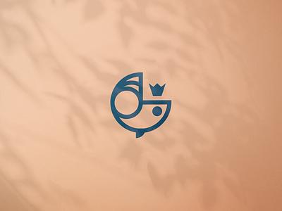 WIP. Ruby. illustration minimal crown royal queen icon symbol branding accessories fish geometric mark logo