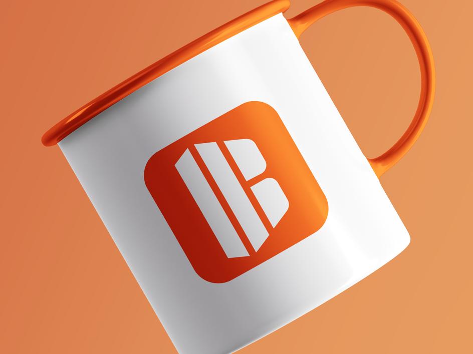 B+building concept vector illustration logodesign colorful minimal letter creative design geometric branding mark clean modern logo