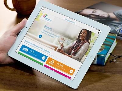 FrieslandCampina for iPad • 2013 design ux mobile ipad