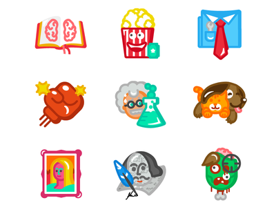 Category badges game literature art pets science sport entertainment education badge social iphone app