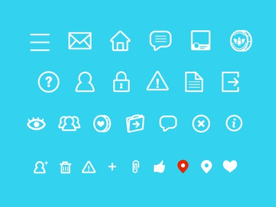 The Social Ammo Icons app iphone social icons menu message coins profile like add info logout
