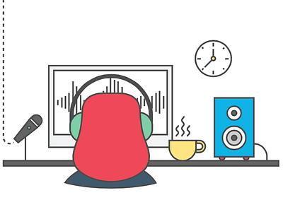 Sound designer agency brief machine science factory illustration sound designer website home brand440