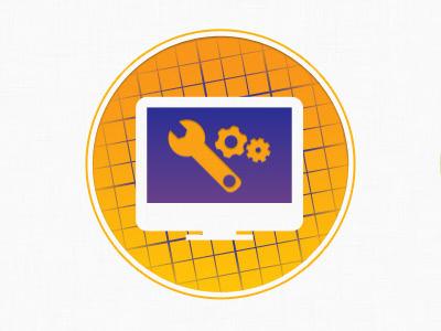 Development icon icon desktop tools yellow purple development