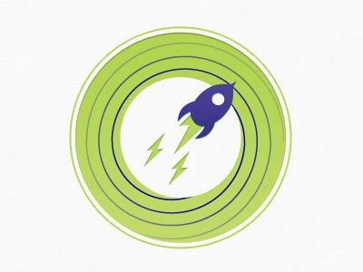 Process icon launch process icon green purple space spiral