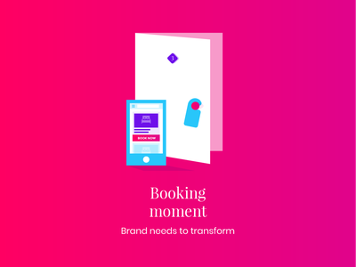 Influence Society - Booking moment smartphone room door media social booking hotel