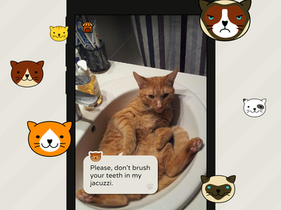 Frimousse, the app that makes your cat talk reality augmented ar speak illustration cat ios app
