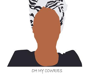 Oh my Cowries ill alo design branding flat illustration illustration