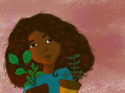 PLANT GIRL childrens book illustration childrens illustration ill design illustration