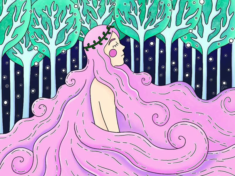 Fairy Child fairytale fairy girl character girl design visual design procreate illustration graphic design vector art illustrator