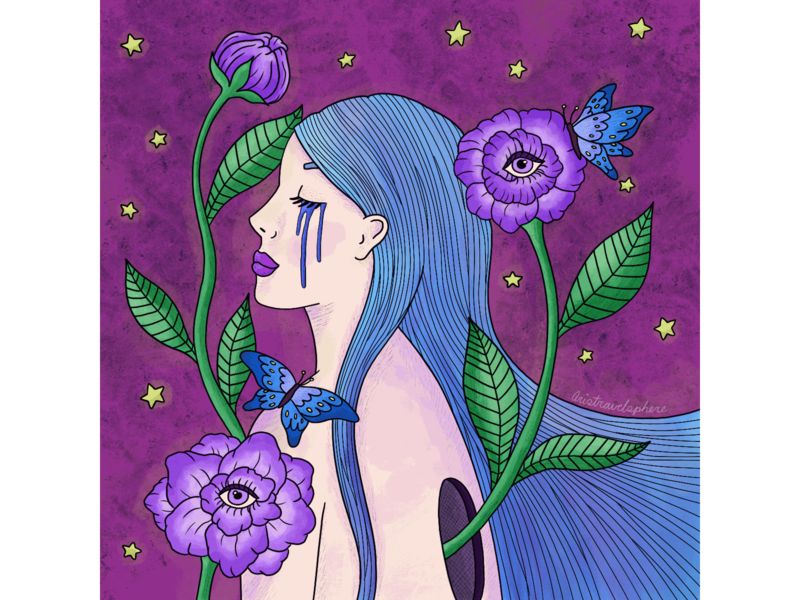 Butterfly Dreams illustrations illustration drawing procreate visual design graphic design illustrator textures