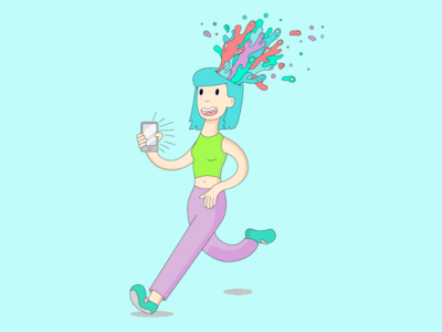 Mind Blown by Phone illustrator illustrations visual design vector art graphic design