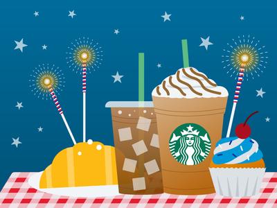 Some 4th of July Illustrations picnic 4thofjuly drinks visualdesign illustration graphic design
