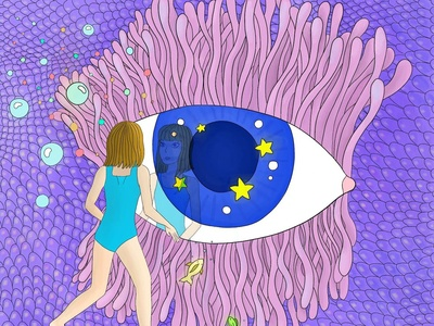 Looking into the eye of the beholder childrensillustration digitaldesign graphicdesign illustration design illustration procreate