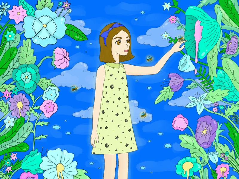Secret Forest visualdesign procreate graphic design illustration
