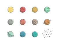 Planets and stuff.